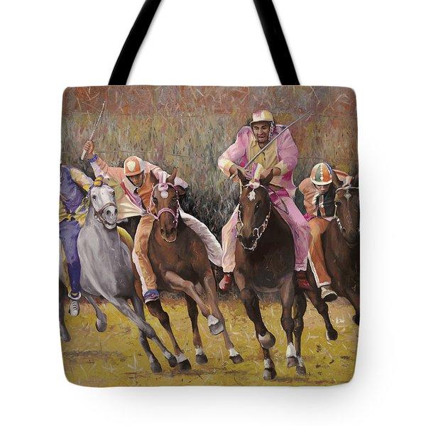 il palio dell'Assunta Tote Bag by Guido Borelli