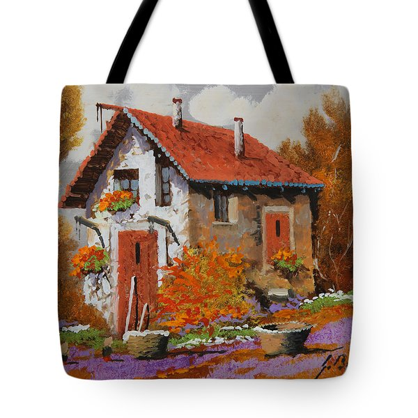 Il Prato Viola Tote Bag by Guido Borelli