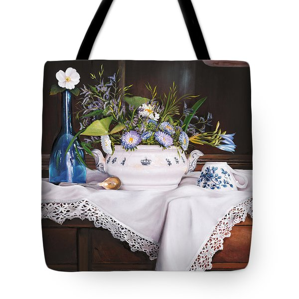 Il Te' Del Pomeriggio Tote Bag by Danka Weitzen