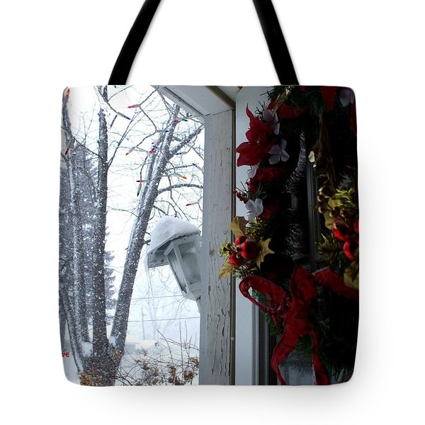 Tote Bag featuring the photograph I'll Be Home For Christmas by Shana Rowe Jackson