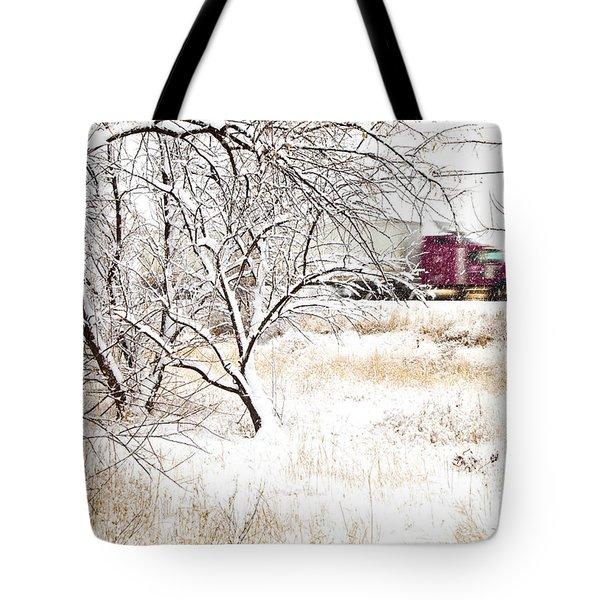 I'll Be Home For Christmas Tote Bag by Theresa Tahara