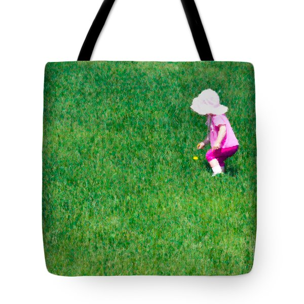 I'll Pick This Pretty Flower For You Tote Bag by Karen Lee Ensley