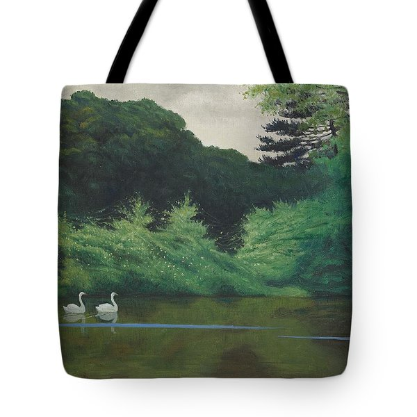 Ille Du Lac Saint James Tote Bag by Felix Edouard Vallotton