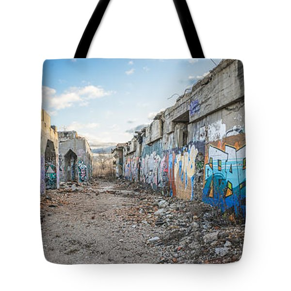 Tote Bag featuring the photograph Illegal Art Museum by Steven Santamour
