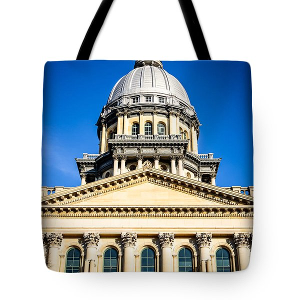 Illinois State Capitol In Springfield Tote Bag by Paul Velgos