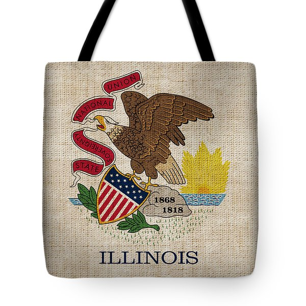 Illinois State Flag Tote Bag by Pixel Chimp