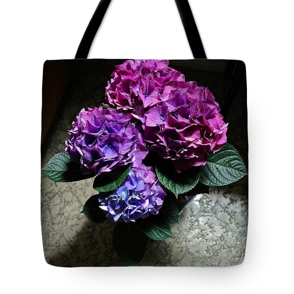 Illuminated Hydrangea Tote Bag