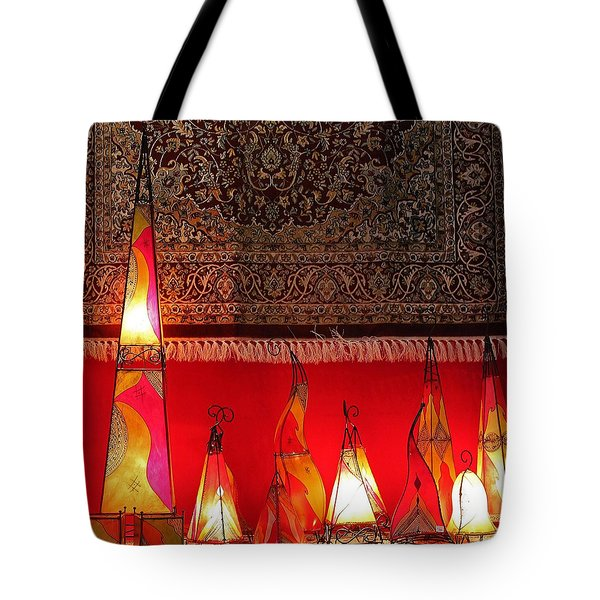 Illuminated Lights Tote Bag