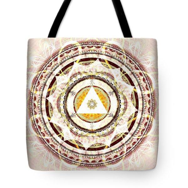 Illumination Circle Tote Bag by Anastasiya Malakhova