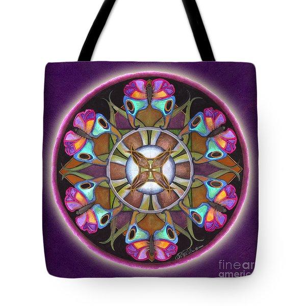 Illusion Of Self Mandala Tote Bag