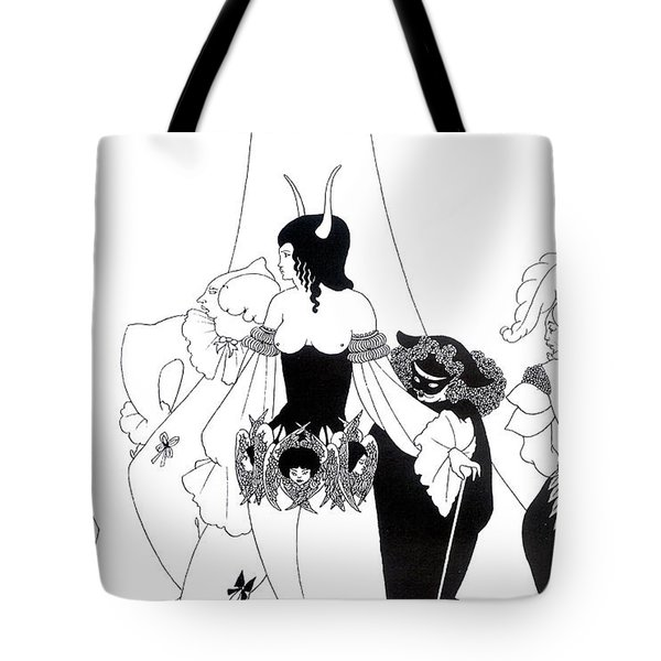 Illustration For The Masque Of The Red Death Tote Bag by Aubrey Beardsley