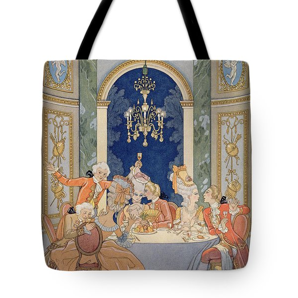 Illustration From 'les Liaisons Dangereuses'  Tote Bag by Georges Barbier