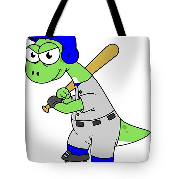Illustration Of A Brontosaurus Baseball Tote Bag by Stocktrek Images