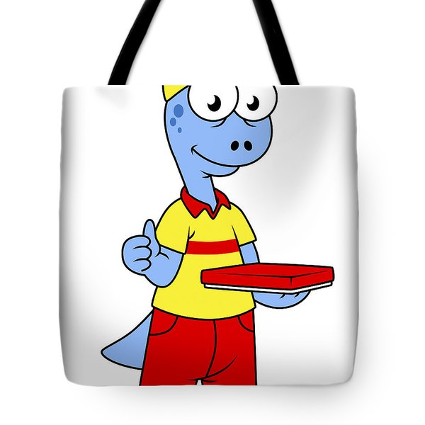 Illustration Of A Brontosaurus Delivery Tote Bag by Stocktrek Images