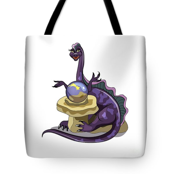Illustration Of A Plateosaurus Fortune Tote Bag by Stocktrek Images
