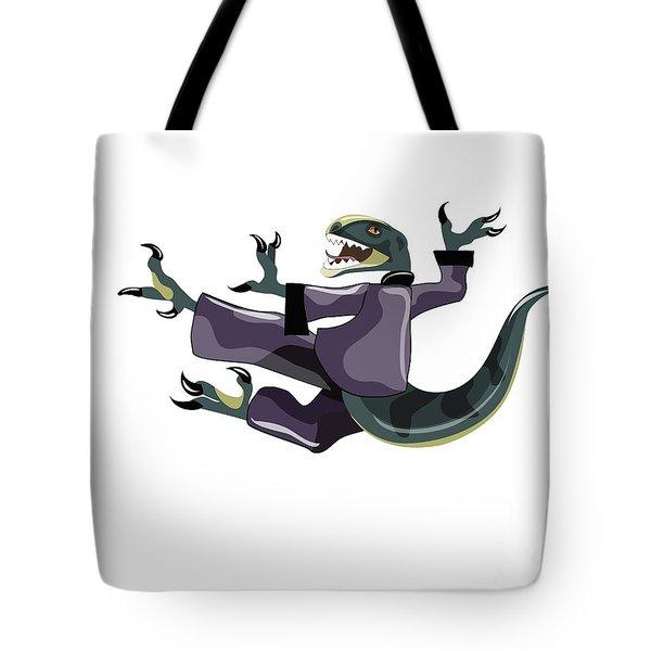 Illustration Of A Raptor Performing Tote Bag by Stocktrek Images