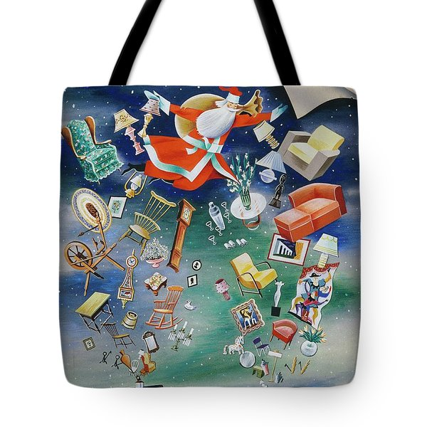 Illustration Of Santa Claus Tote Bag