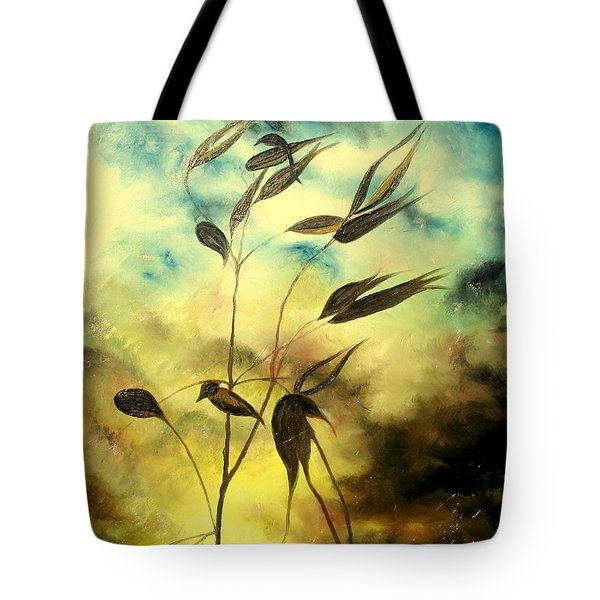 Tote Bag featuring the painting Ilusion by Sorin Apostolescu