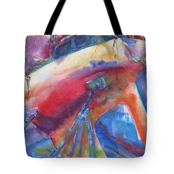 Ilwaco Parti-color Tote Bag