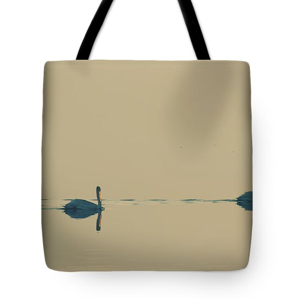 I'm Sailing Right Behind Tote Bag by Laurie Search