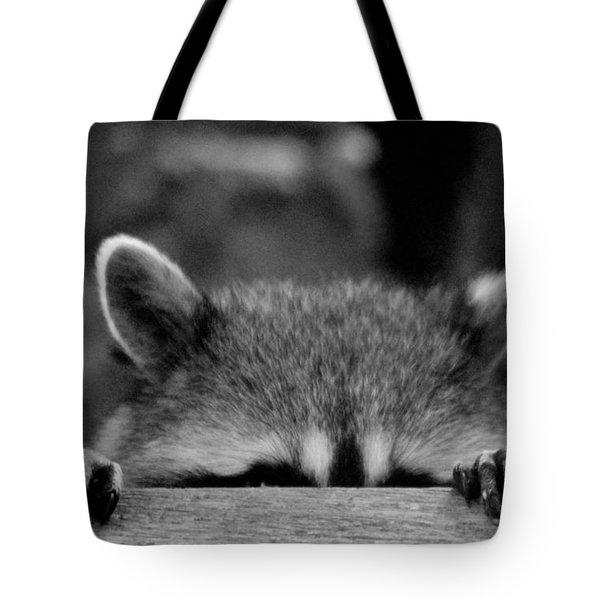 I'm Sure She Can't See Me Tote Bag by Kym Backland