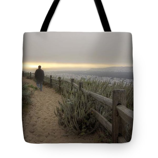 Tote Bag featuring the photograph I'm Walking In The Wind Looking At The Sky by Peter Thoeny
