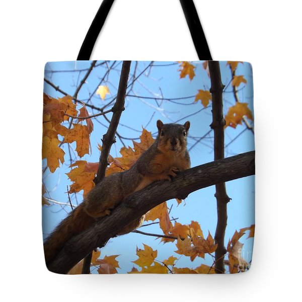 I'm Watching You Tote Bag by Sara  Raber