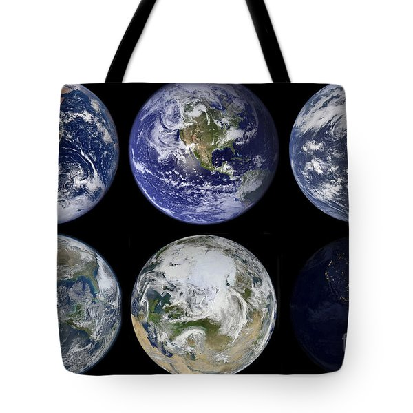 Image Comparison Of Iconic Views Tote Bag by Stocktrek Images