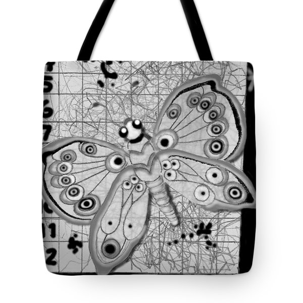 Tote Bag featuring the digital art Imaginary Lines by Carol Jacobs