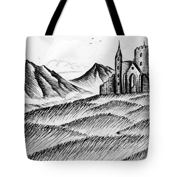 Tote Bag featuring the painting Imagination by Salman Ravish