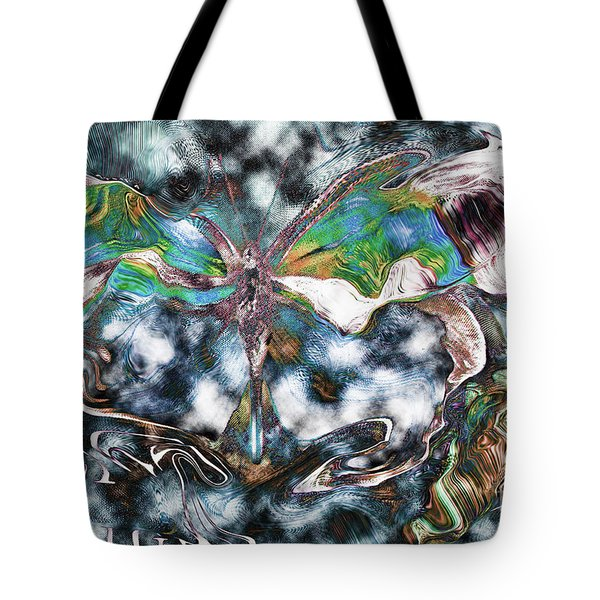 Imagine Number 2 Butterfly Art Tote Bag by Andy Prendy