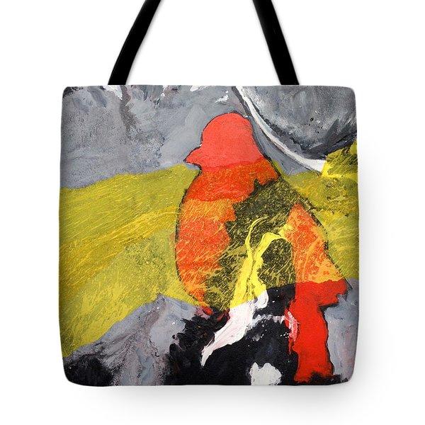 Red Bird Flyaway Tote Bag