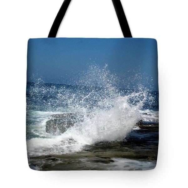 Impact Of The Sea Tote Bag