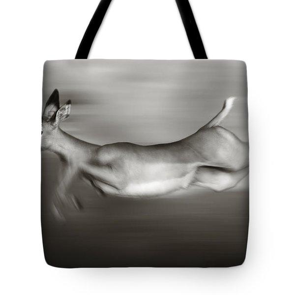 Impala Running  Tote Bag by Johan Swanepoel