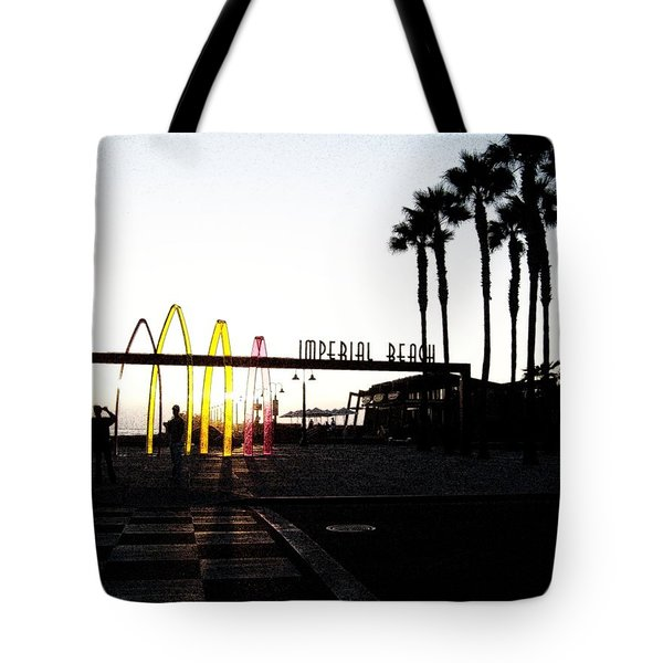 Imperial Beach At Dusk Tote Bag