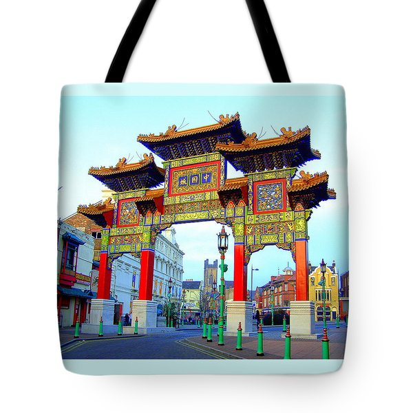 Imperial Chinese Arch Liverpool Uk Tote Bag