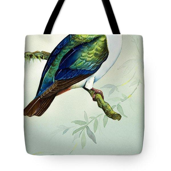 Imperial Fruit Pigeon Tote Bag by Bert Illoss