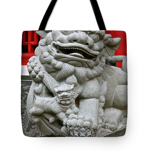 Imperial Guardian Lioness  Tote Bag by Karon Melillo DeVega