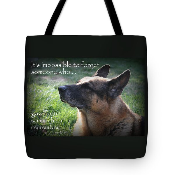 Impossible To Forget Tote Bag