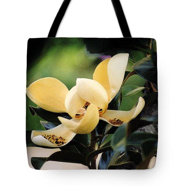 Impression Ivory Magnolia II Tote Bag