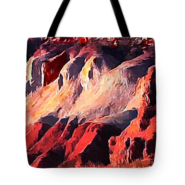 Impression Of Capitol Reef Utah At Sunset Tote Bag