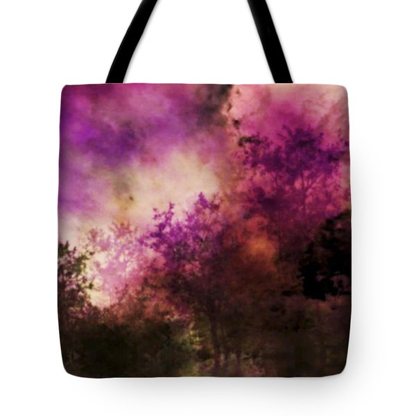 Impressionism Style Landscape Tote Bag by Maggie Vlazny