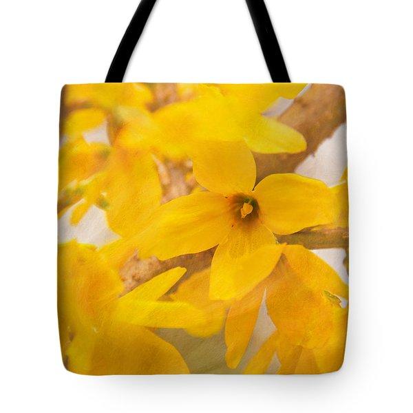 Impressionist Forsythia Tote Bag