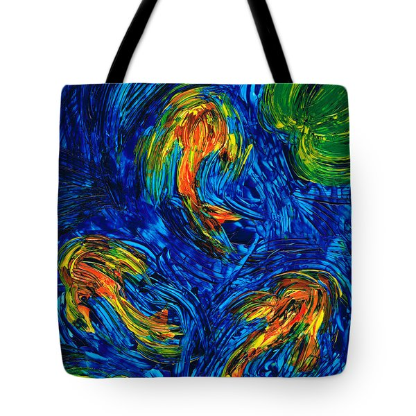 Impressionist Koi Fish By Sharon Cummings Tote Bag by Sharon Cummings