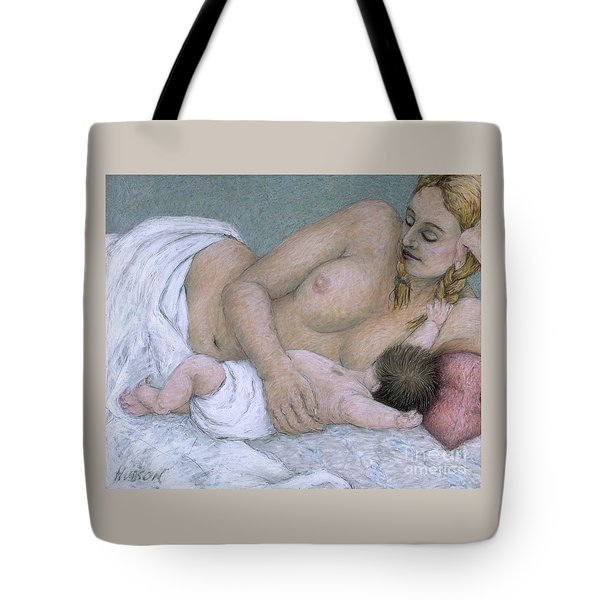 impressionist mother and child painting - Between Time Tote Bag