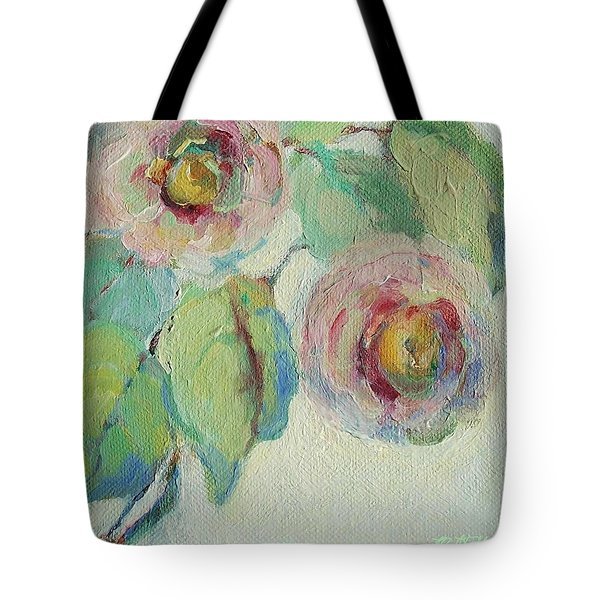 Impressionist Roses  Tote Bag by Mary Wolf