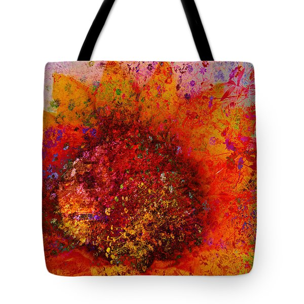 Impressionistic Colorful Flower  Tote Bag