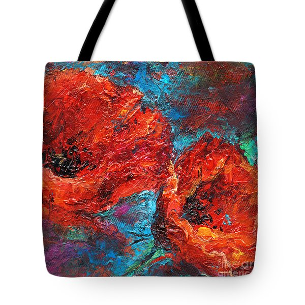 Impressionistic Red Poppies Tote Bag by Svetlana Novikova
