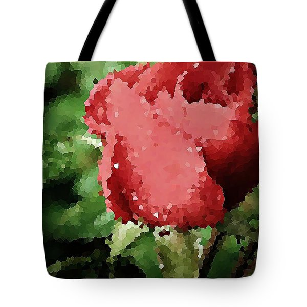 Impressionistic Rose Tote Bag by Chris Berry