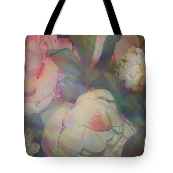 Tote Bag featuring the photograph Impressionistic Spring Bouquet by Dora Sofia Caputo Photographic Art and Design